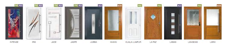 Porte d'entrée PVC, bois ou métal, avec ou sans vitrage
